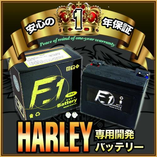 【1年保証付き】 F1 バッテリー 【FLSTN1340cc ノスタルジア/93~96用】バッテリー[65989-97C] 互換 ハーレー用 MFバッテリー 【HVT-1】 キャッシュレス5%還元