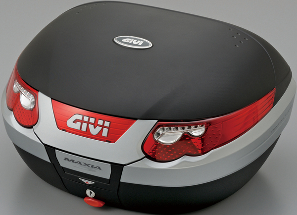 【送料無料】【GIVI[ジビ]】 リアボックス バイク用 ボックス モノキーケース E55N 未塗装ブラック(黒)(デュアルタイプストップランプ、インナートレイ付)【70902】