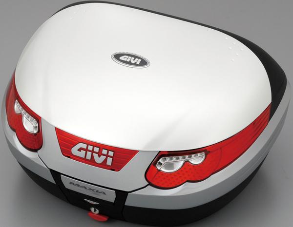 【送料無料】【GIVI[ジビ]】 リアボックス バイク用 ボックス モノキーケース E55B906 パールホワイト(白)(デュアルタイプストップランプ、インナートレイ付)【70903】 キャッシュレス5%還元