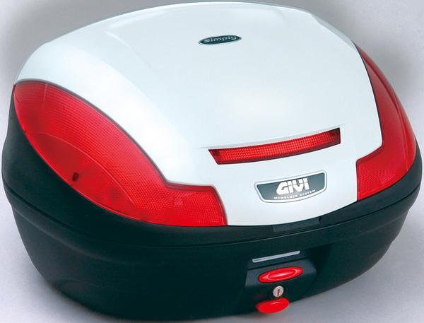 【送料無料】【GIVI[ジビ]】 リアボックス バイク用 ボックス モノロックケース E470B906D パールホワイト(白)【68056】 キャッシュレス5%還元