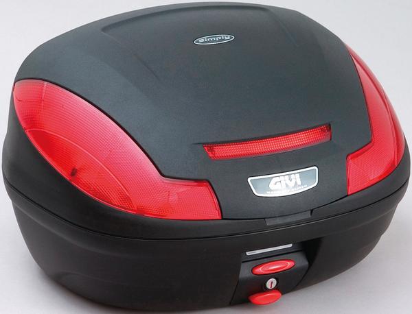 【送料無料】【GIVI[ジビ]】 リアボックス バイク用 ボックス モノロックケース E470NDランプ無し 未塗装ブラック(黒)【68059】 キャッシュレス5%還元