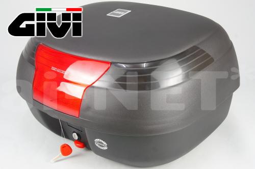 【送料無料】【GIVI[ジビ]】 リアボックス バイク用 ボックス モノロックケース E42NS 未塗装ブラック(黒) ランプ付【90355】