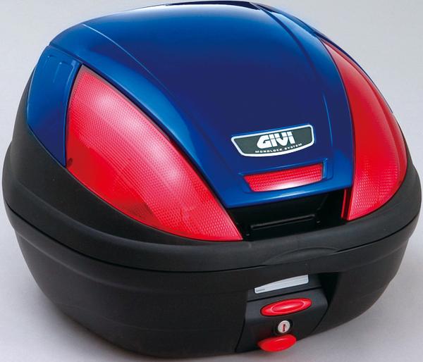【送料無料】【GIVI[ジビ]】 リアボックス バイク用 ボックス モノロックケース E370B529D ブルー(青)【68046】 キャッシュレス5%還元