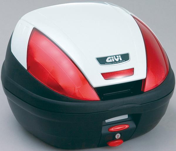 【送料無料】【GIVI[ジビ]】 リアボックス バイク用 ボックス モノロックケース E370B906D パールホワイト(白)【68047】