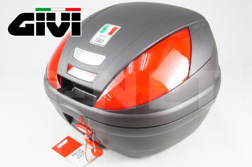 【送料無料】【GIVI[ジビ]】 リアボックス バイク用 ボックス モノロックケース E370ND 未塗装ブラック(黒)【68051】 キャッシュレス5%還元
