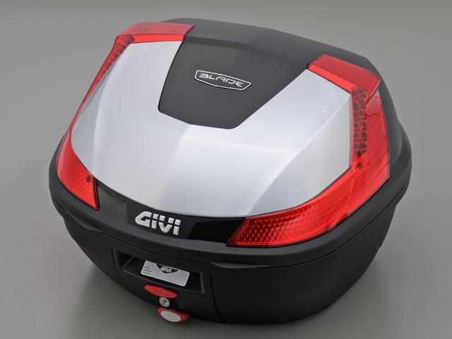 【送料無料】【GIVI[ジビ]】 リアボックス バイク用 ボックス モノロックケース B37G730 シルバー(銀)【78035】 キャッシュレス5%還元