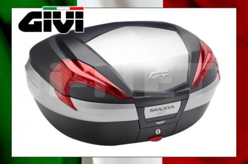 【送料無料】【GIVI[ジビ]】V56N MAXIA4シリーズ 未塗装ブラック (アルミパネル)【92360】 リアボックス バイク用 ボックス モノキーケース キャッシュレス5%還元
