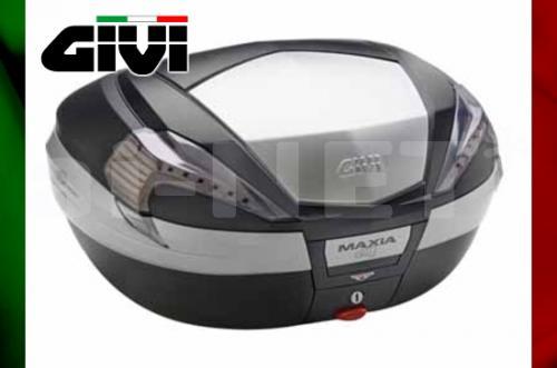 【送料無料】【GIVI[ジビ]】V56NT MAXIA4シリーズ 未塗装ブラック TECHスモークレンズ(アルミパネル)【92361】 リアボックス バイク用 ボックス モノキーケース キャッシュレス5%還元