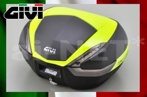 【送料無料】【GIVI[ジビ]】 リアボックス バイク用 ボックス モノキーケース V47NNTFL TECH スモークレンズ 蛍光イエロー塗装(カーボン調)【92710】