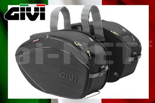 【送料無料】バイク用 サイドバッグ【GIVI ジビ】 EA100B 可変式サイドバッグ 最大容量40L 【94355】 キャッシュレス5%還元