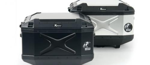 【HEPCO&BECKER ヘプコ&ベッカー】XPLORER エクスプローラー トップケース ボックス TC45 シルバー 610212-0000 リアボックス ハードケース キャッシュレス5%還元