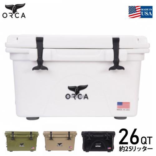 国内正規品 ORCA/オルカ クーラーボックス ORCA White 26 Cooler (約25L)クーラーBOX 保冷ボックス 26Quart ホワイト キャンプ アウトドア バーベキュー 海水浴 釣り ピクニック おしゃれクーラーボックス