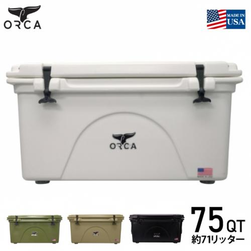 国内正規品 ORCA/オルカ クーラーボックス ORCA White 75 Cooler (約71L) 大型クーラーBOX 保冷ボックス White ホワイト キャンプ アウトドア バーベキュー 海水浴 釣り ピクニック おしゃれクーラーボックス