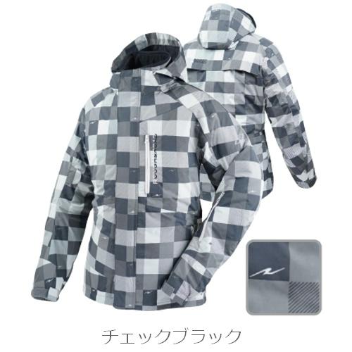 【送料無料】【ラフ&ロード】 デュアルテックス ウォーム パーカー RR7660 チェックブラック インナージャケット付き