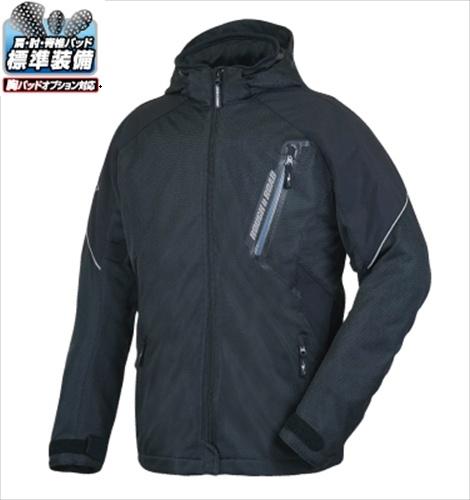 春 夏 秋 【送料無料】 ラフ&ロード RR7343 エアスルーメッシュパーカー ブラック LLサイズ