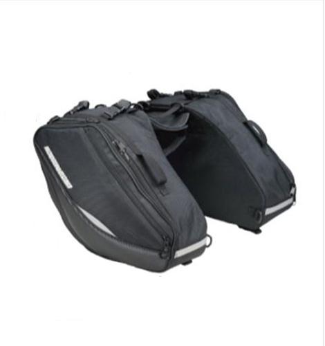 【送料無料】【ラフ&ロード】 テールフィンサイドバッグワイド RR9115 ブラック 容量38L キャッシュレス5%還元