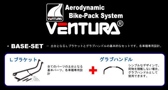 【VENTURA[ベンチュラ]】ZX-7R (ZX 750 P) キャリア用 ベースセット ブラック BSK050B