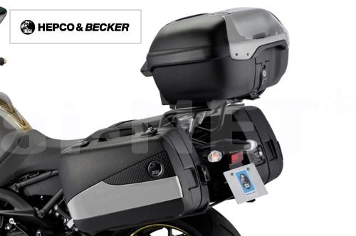 【HEPCO&BECKER[ヘプコ&ベッカー]】 【MT-09】 3BOX+キャリアSET [HBS349-ALL-SET] リアボックス サイドケース リアキャリア キャッシュレス5%還元