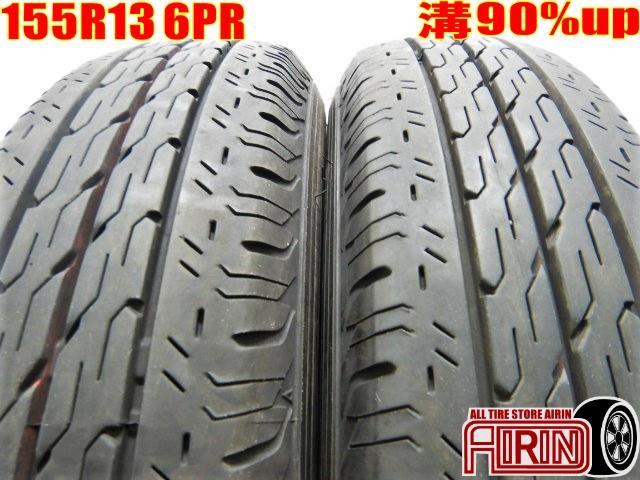 155R13 6PR BRIDGESTONE ECOPIA R680 2本セットADバン カローラバンなどに中古タイヤ中古 夏タイヤ サマータイヤ 155 R13 6PR