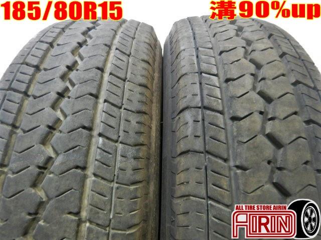 185/80R15 TOYO TOYO V-02e 103/101L 2本セットダイナなどに中古タイヤ 15インチ中古 夏タイヤ サマータイヤ 185 80 R15