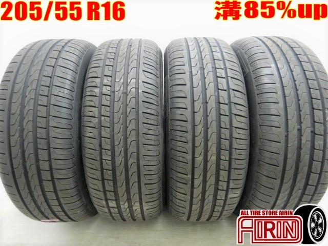 205/55R16 PIRELLI Cinturato P7 4本セット 86 オーリス ヴォクシー ラフェスタ リーフ アクセラ インプレッサなどに 中古タイヤ 16インチ中古 夏タイヤ サマータイヤ 205 55 R16