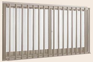 アルミサッシ アトモス2 縦格子付サッシ 半外付型 呼称11405 送料無料でお届けします LIXIL トステム ガラス窓 高価値 リクシル 引違い窓 マド 引き違い窓