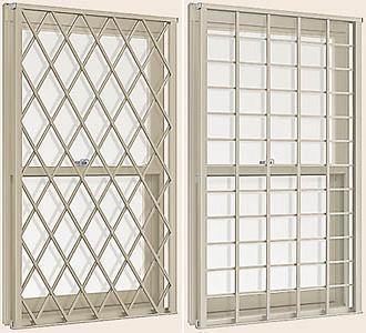 高級感 デュオPG ヒシクロス・井桁格子付上げ下げ窓SH 呼称07413【LIXIL】【リクシル】【トステム】【マド】【ガラス窓】【装飾窓】【ペアガラス】:あかりとり窓 アルミサッシ-木材・建築資材・設備