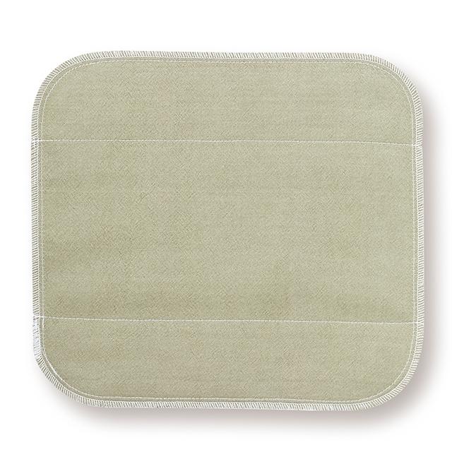 天然植物よもぎを草木染めしたシルク 生成り未サラシネルの生理用布ナプキン 営業 小 小判よもぎ です 送料無料カード決済可能 シルク布ナプキン