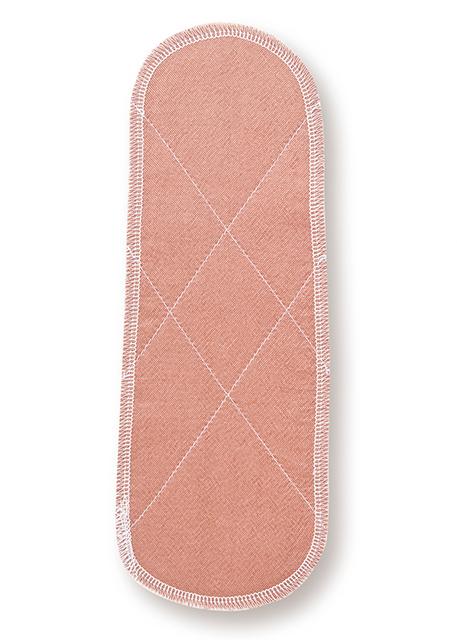 送料無料激安祭 ~シルク レギュラーパッド~びわ染めシルクと未サラシネルとの合わせ約8cm×21.5cm楕円型 シルク びわ レギュラーパッド Seasonal Wrap入荷