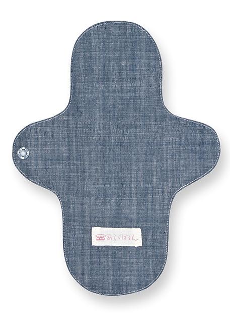 大判や小判の布ナプキンを挟み ショーツに留める防水布入りのホルダーです 日本製 評価 オーガニックコットン本藍染め 本藍 レギュラーアンダーホルダー
