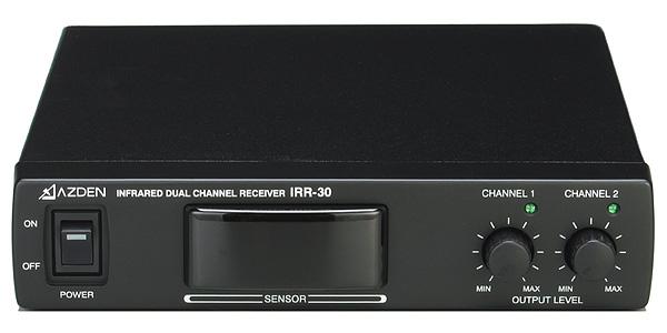 AZDEN アツデン 2チャンネル赤外線ワイヤレスレシーバー IRR-30