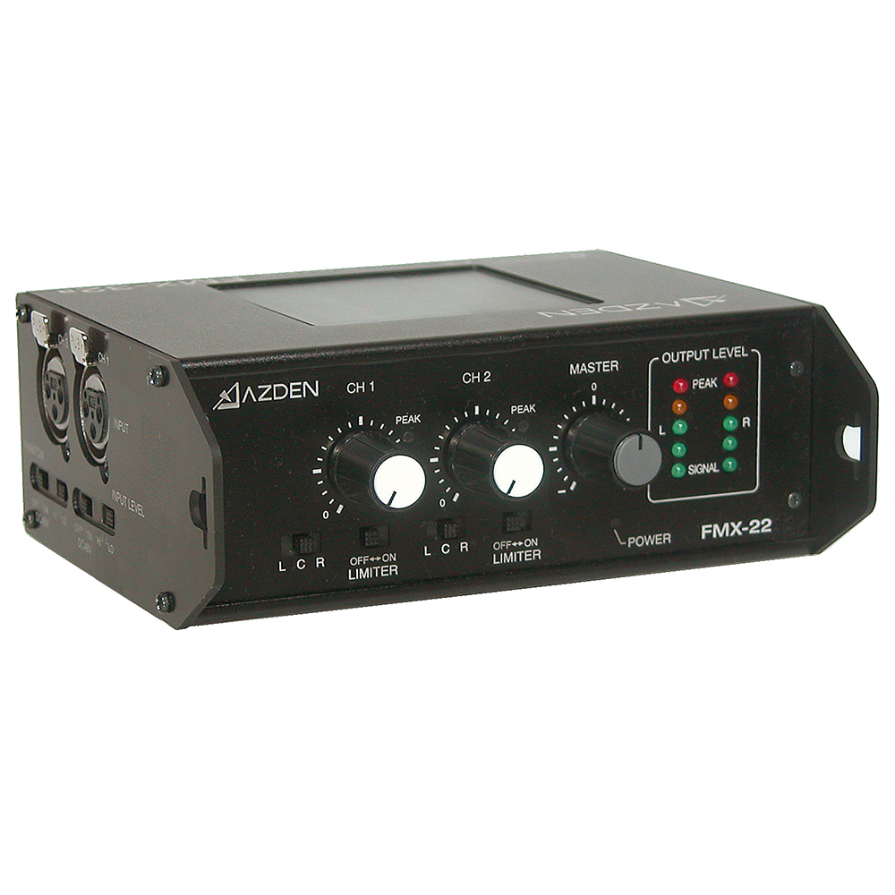 AZDEN/アツデン 2チャンネル ポータブルミキサー[FMX-22]~ビデオカメラ/マイク~ 音声
