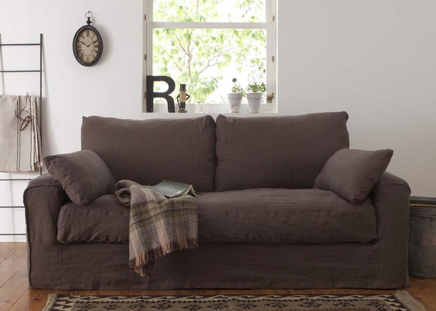 家具 インテリア ソファChaleur シャレール SH10-09B 2.5P2人掛け 2P リネン 麻 リビング