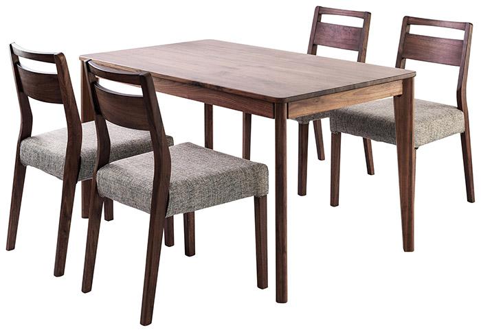 家具 インテリア 椅子 テーブルmeets ミーツダイニング5点セットカフェ 木製 ブラウン