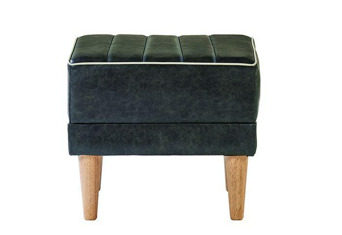 【送料無料】家具 インテリア ソファリビング ダイニングRUSO ルソー オットマン スツール PVC黒 ブラック
