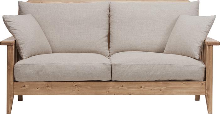 【送料無料】 家具 インテリア 椅子 ソファ 2人掛けGALETTE ガレットソファ 2P N ガレット木製 カフェ ダイニングチェア テーブル