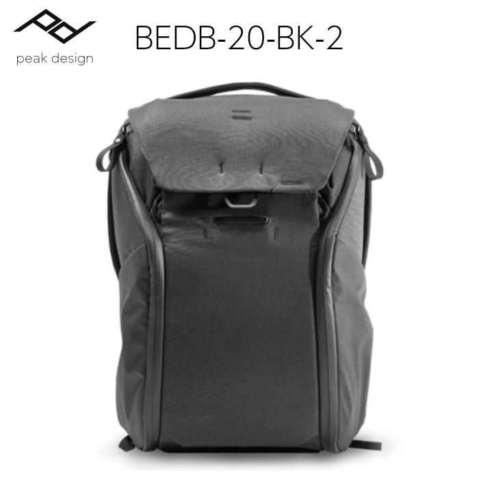 ピークデザイン エブリデイバックパック 20L ブラック BEDB-20-BK-2