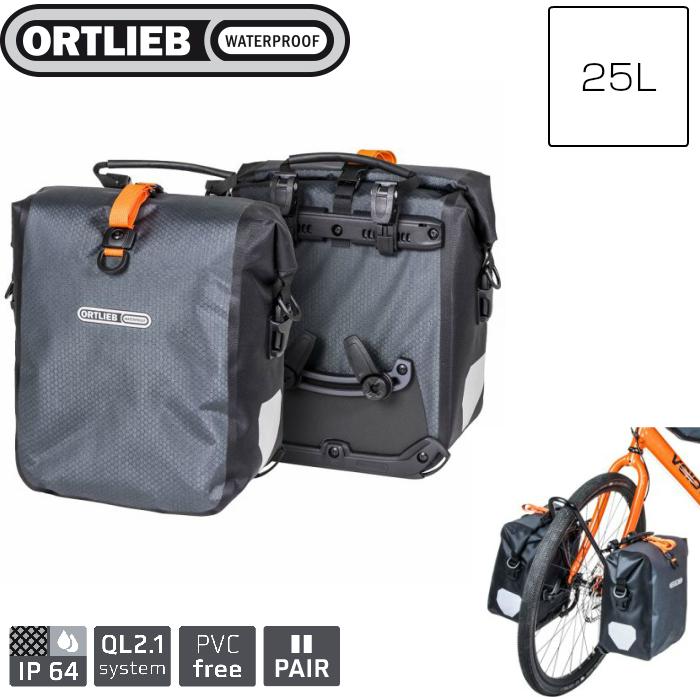 Ortlieb 25L Gravel-Pack QL2.1 Pannier Bags Slate Black pair