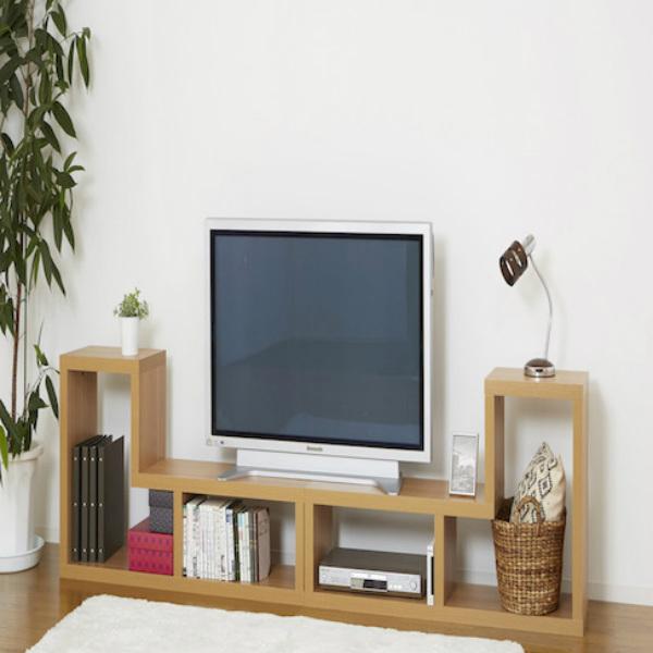 家具 L型コンビネーションラック 2個セット 棚 TV台 ローボード組み合わせ マルチラックナチュラル