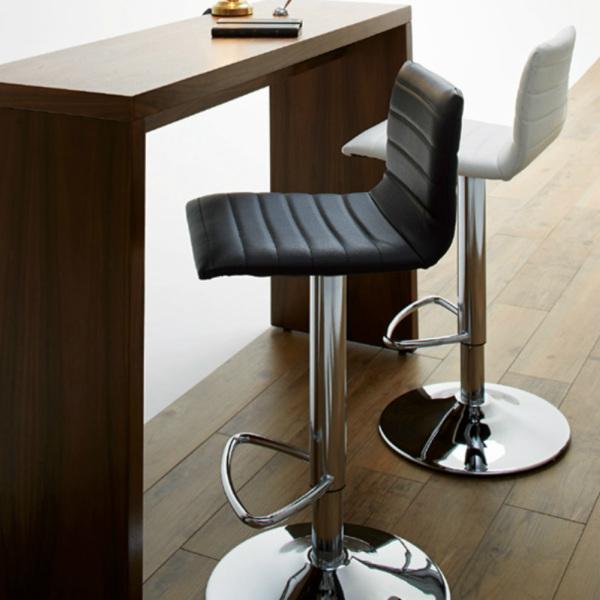 CHERRY HOMEDAY回転式 昇降式 椅子 ハイチェア CC-255 ホワイト ブラック