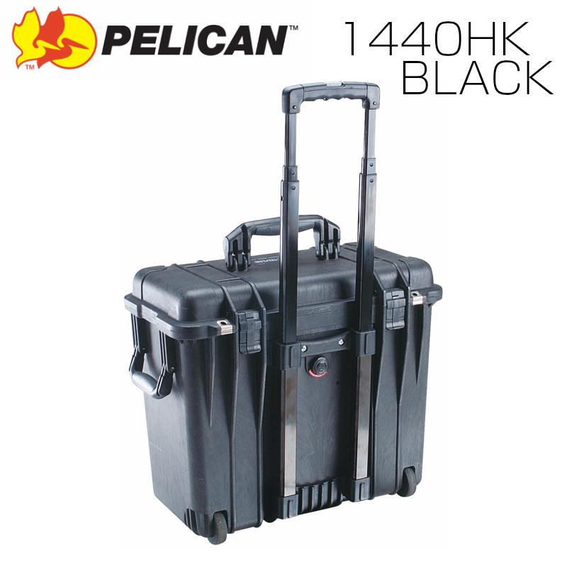 PELICAN ペリカン 1440HK ブラック 業務用 中型カメラケース ディバイダータイプ キャリーハンドル キャスター FAA機内持込サイズ プロテクトケース