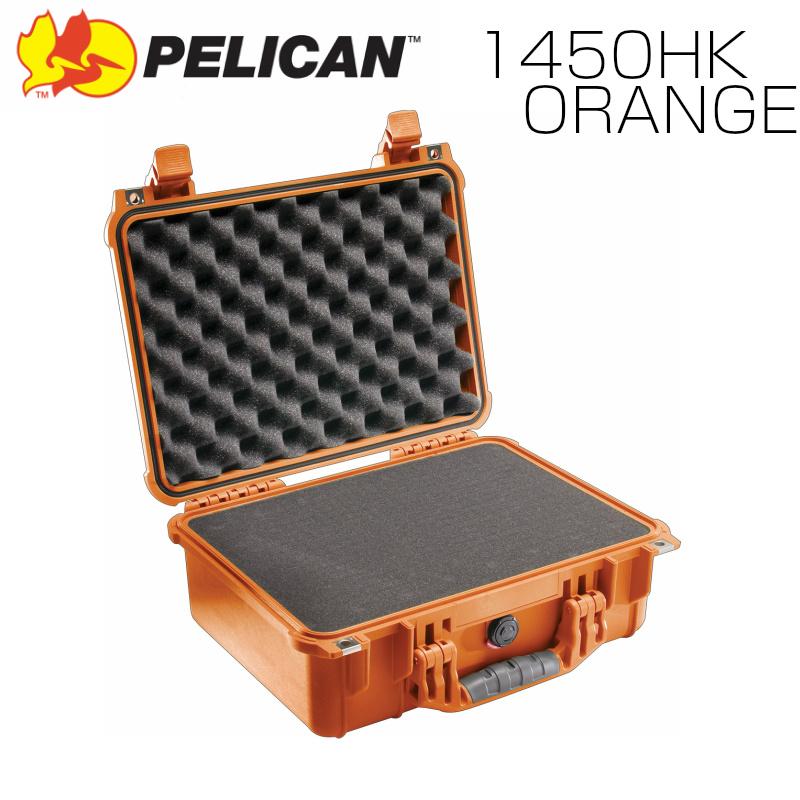PELICAN ペリカン 1450HK オレンジ 業務用 中型カメラケース ブロックウレタン付き FAA機内持込サイズ プロテクトケース