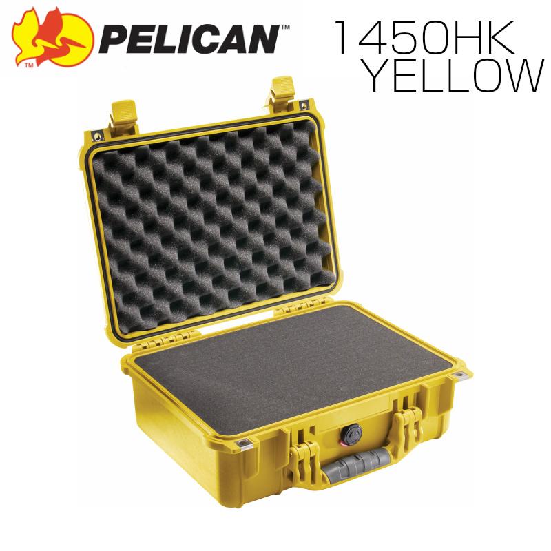 PELICAN ペリカン 1450HK イエロー 業務用 中型カメラケース ブロックウレタン付き FAA機内持込サイズ プロテクトケース