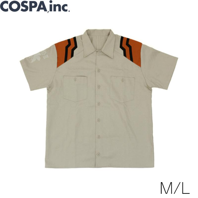 新世紀エヴァンゲリオン ネルフ制服 デザインワークシャツ M L サイズ 公式 COSPA
