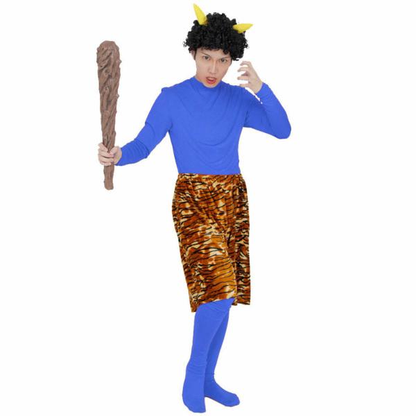 青鬼スタンダード 節分 豆まき 鬼 衣装 ボディスーツ パンツ ウィッグ セット