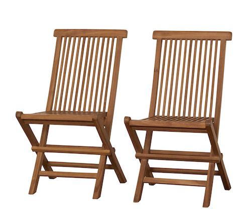Class Two Furniture Teak Chairs Folding Type Wooden Tree
