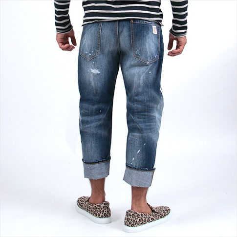 Dsquared /DSQUARED2 dsquared jeans /BIG DEAN'S BROTHER JEAN / runway model! Side painting & damage & destroy processing / roll-up pants 71 LA0809 S30309 470 P08Apr16