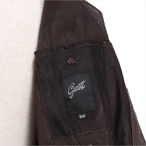 Special leather jacket that landed from Florence! Garrett < Galette > washed processing leather blouson motepita model Brown 50 P08Apr16
