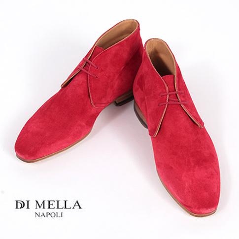 【在庫一点セール】秋冬OUTLET】【DI MELLA ディメッラ】1069 スエード チャッカブーツ ROSSO レッド DI MELLA/ディメッラ/SUEDE11/イタリア靴