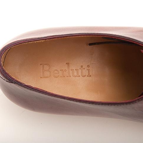 Berluti/ ベルルッティ masterpiece ピアッシング コレクションポインテッドトゥワンピースピースホールカットパティーヌヴェネチアンレザーブラウンベース